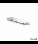 Aplica Cube Mica, 1 neon, dulie T5, L:380 mm, H:30 mm, Aluminiu