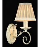 Aplica Elegant Felicita,1 x E14, 230V, D.21cm,H.31 cm,Alb-auriu