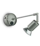 Aplica Strale, 1 bec, dulie GU10, L:80 mm, H:150 mm, Nichel