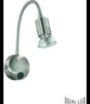 Aplica Flex, 1 bec, dulie GU10, L:80 mm, H:400 mm, Nichel