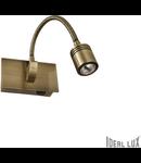 Aplica Dynamo, 1 LED, 135 Lm, L:115 mm, H:65 mm, Alama antica