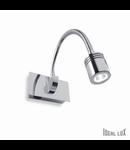 Aplica Dynamo, 1 LED, 135 Lm, L:115 mm, H:65 mm, Crom