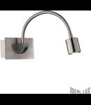 Aplica Dynamo, 1 LED, 135 Lm, L:115 mm, H:65 mm, Nichel