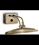 Aplica Mirror 20, 2 becuri, dulie G9, L:250 mm, H:100 mm, Alama antica