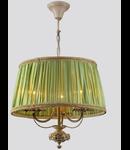Candelabru Elegant Olivia,3 becuri dulie E14, 230V,D.44cm, H.42 cm,Abajur verde