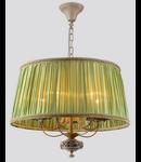 Candelabru Elegant Olivia,5 becuri dulie E14, 230V,D.50cm, H.42 cm,Abajur verde