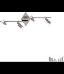 Plafoniera Alfa 4 becuri, dulie GU10, L:715 mm, H:220 mm, Nichel
