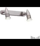Aplica Alfa 2 becuri, dulie GU10, L:290 mm, H:110mm, Nichel