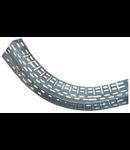 Cot ridicator/coborator pentru jgheab metalic H 35mm,latime 100mm