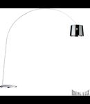 Lampa de podea Dorsale 1 bec, dulie E27, D:2170 mm, H:2320 mm, Crom