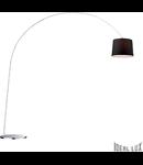 Lampa de podea Dorsale 1 bec, dulie E27, D:2170 mm, H:2320 mm, Negru