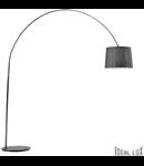 Lampa de podea Dorsale 1 bec, dulie E27, D:2170 mm, H:2320 mm, Negru complet