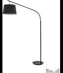 Lampa de podea Daddy 1 bec, dulie E27, L:1180 mm, H:1970 mm, Negru