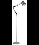 Lampa de podea Wally, 1 bec, dulie E27, L:200 mm, H:820 mm, Argintiu