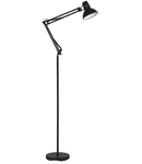 Lampa de podea Wally, 1 bec, dulie E27, L:200 mm, H:820 mm, Negru