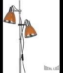 Lampa de podea Elvis, 2 becuri, dulie E27, D:240 mm, H:1600 mm, Portocaliu