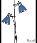 Lampa de podea Elvis, 2 becuri, dulie E27, D:240 mm, H:1600 mm, Albastru