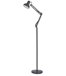 Lampa de podea Kelly, 1 bec, dulie E27, D:1000 mm, H:1200/1850 mm, Negru