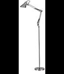Lampa de podea Sally, 1 bec, dulie E27, D:950 mm, H:min 1150 / max 1850 mm, Argintiu