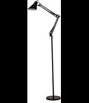 Lampa de podea Sally, 1 bec, dulie E27, D:950 mm, H:min 1150 / max 1850 mm, Negru