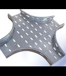 Piesa imbinare CRUCE pentru jgheab metalic H 35mm,latime 100mm