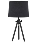 Veioza York Mica, 1 bec, dulie E27, D:235 mm, H:460 mm, Negru