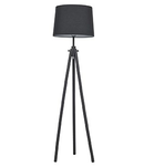 Lampa de podea York, 1 bec, dulie E27, D:480 mm, H:1640 mm, Negru