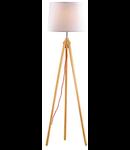Lampa de podea York, 1 bec, dulie E27, D:480 mm, H:1640 mm, Lemn natural
