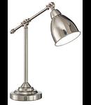 Veioza Newton 1 bec, dulie E27, D:170 mm, H:550 mm, Nichel