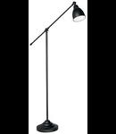 Lampa de podea Newton, 1 bec, dulie E27, D:260 mm, H:1500 mm, Negru