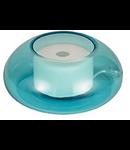 Veioza Micky,1 LED, 500 Lm, dulie GX53, D:170 mm, H:75 mm, Albastru