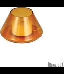 Veioza Fiaccola, 1 LED, 500 Lm, dulie GX53, D:170 mm, H:100 mm, Chihlimbar