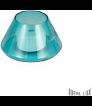 Veioza Fiaccola, 1 LED, 500 Lm, dulie GX53, D:170 mm, H:100 mm, Albastru