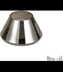 Veioza Fiaccola, 1 LED, 500 Lm, dulie GX53, D:170 mm, H:100 mm, Crom