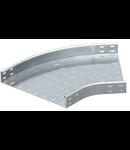 Piesa imbinare Cot 45° pentru jgheab metalic H 35 mm,latime 100mm