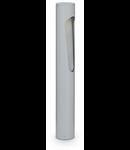 Stalp de gradina Polaris, 1 bec, dulie G9, D:85 mm, H:605 mm, Gri