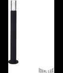 Stalp de gradina Bamboo, 1 bec, dulie G9, D:130 mm, H:815 mm, Negru