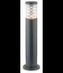 Stalp de gradina Tronco Mic, 1 bec, dulie E27, D:150 mm, H:600 mm, Antracit