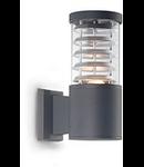 Aplica de exterior Tronco, 1 bec, dulie E27, L:110 mm, H:250 mm, Antracit