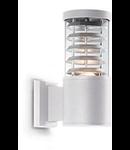 Aplica de exterior Tronco, 1 bec, dulie E27, L:110 mm, H:250 mm, Alb