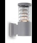 Aplica de exterior Tronco, 1 bec, dulie E27, L:110 mm, H:250 mm, Gri
