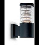 Aplica de exterior Tronco, 1 bec, dulie E27, L:110 mm, H:250 mm, Negru