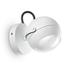 Aplica de exterior Zenith, 1 bec LED, dulie GU10, D:120 mm, H:170 mm, Alb