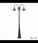 Stalp iluminat pentru exterior Cima, 2 becuri, dulie E27, D:830 mm, H:2160 mm,