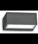 Aplica de exterior Twin, 1 bec, dulie G9, L:165 mm, H:65 mm, Antracit