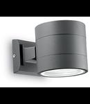Aplica de exterior Snif rotunda, 1 bec, dulie G9, L:110 mm, H:110 mm, Antracit