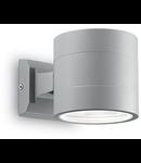 Aplica de exterior Snif rotunda, 1 bec, dulie G9, L:110 mm, H:110 mm, Gri