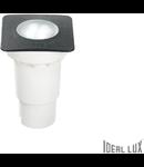 Spot in pardoseala Ceci mic patrat, 1 LED, dulie GU10, L:90 mm, H:135 mm, Negru