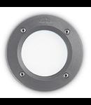 Spot in pardoseala Leti rotund, 1 LED, dulie GX53, D:134 mm, H:80 mm, Gri
