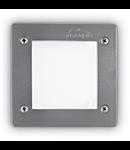 Spot in pardoseala Leti patrat, 1 LED, dulie GX53, L:115 mm, H:80 mm, Gri